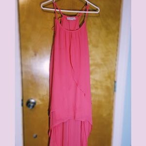 High low pink junior dress